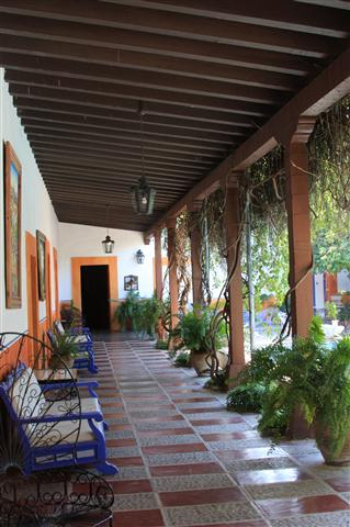 Courtyard of a home in Alamos