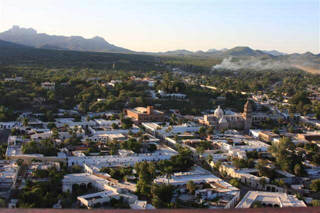 Overlooking the town of Alamos