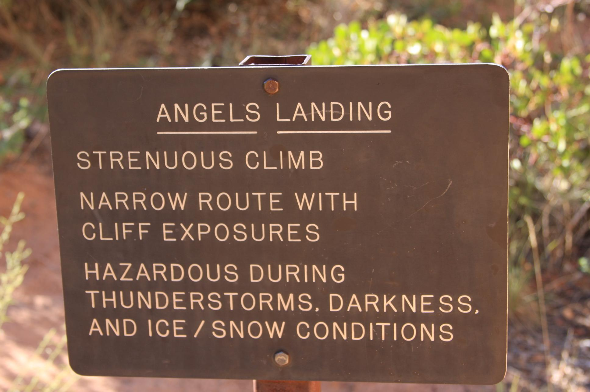 Angels Landing - why all the warnings?