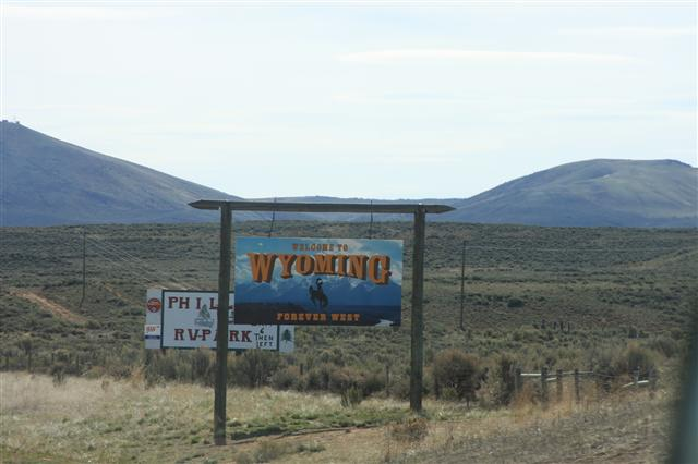 Into Wyoming