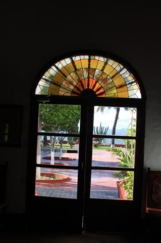 Looking out to the courtyard