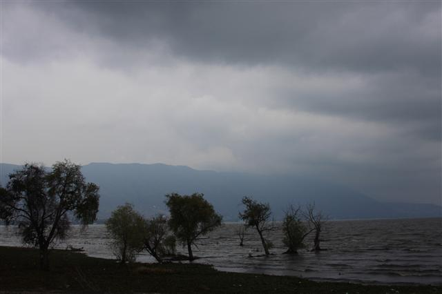 Storm coming across the lake