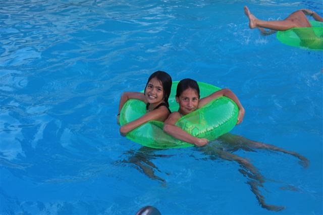 Buddies in the pool