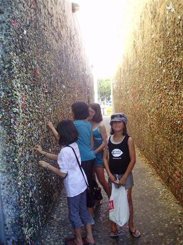 The wall of gum...disgusting!!!