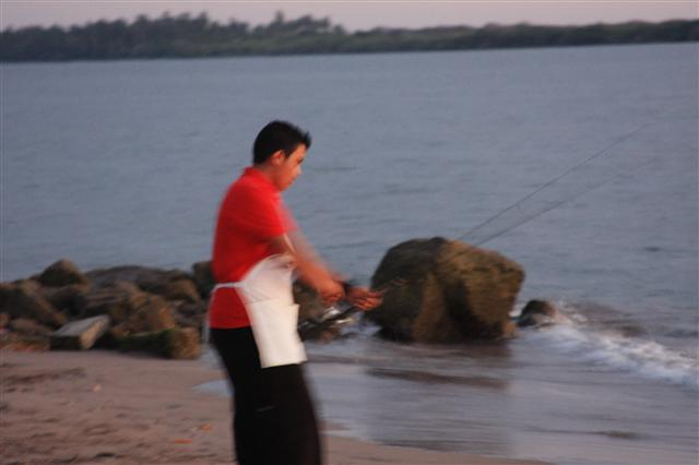 The Cook catching Dinner