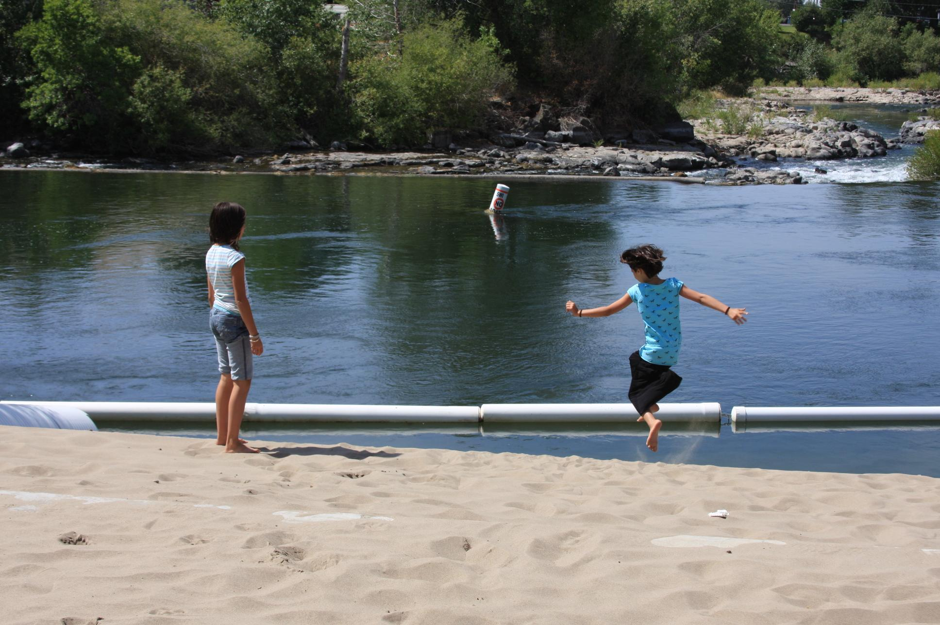 Jumping off the sand bar