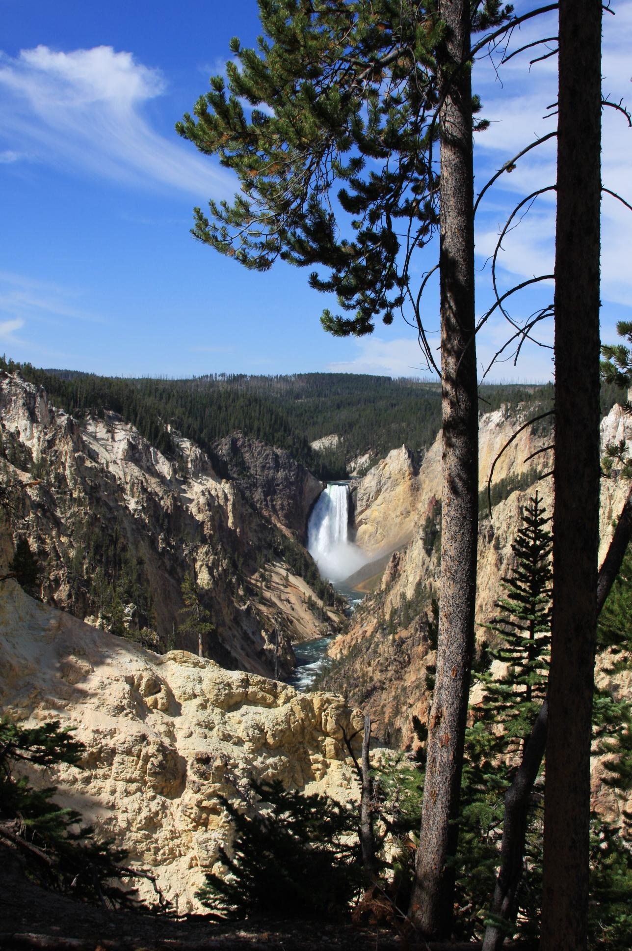 Falls in Yellowstone