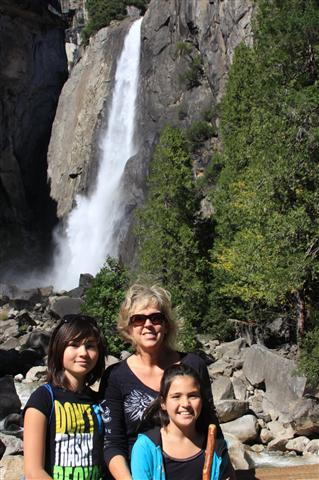 Girls at the Lower Falls