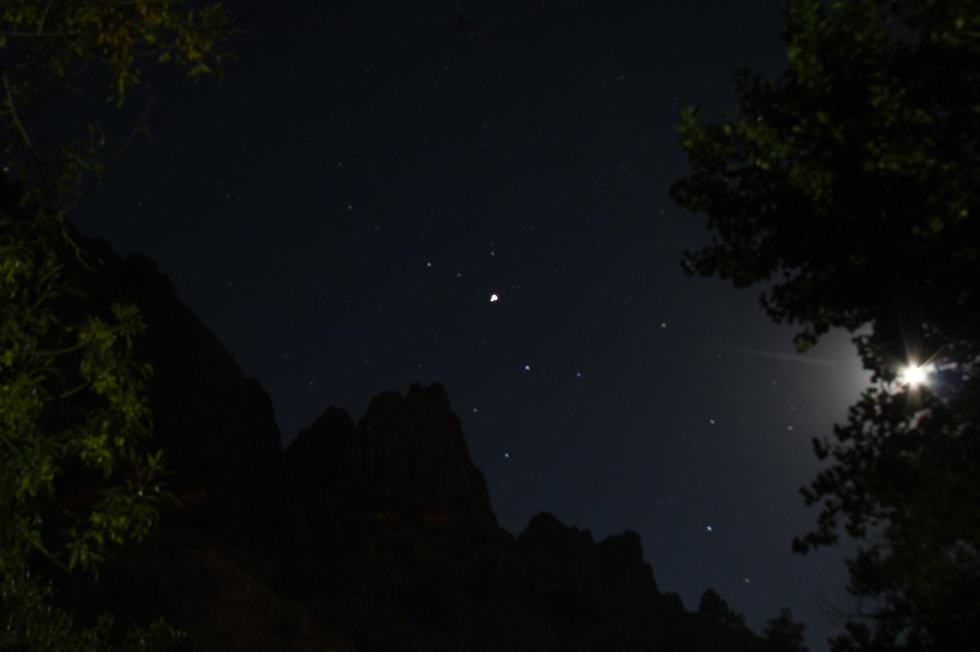 Moon rise over Zion